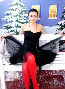 Татьяна в красных колготках, Москва декабрь 2012
